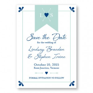 Hearts and Arrow Save The Date Cards