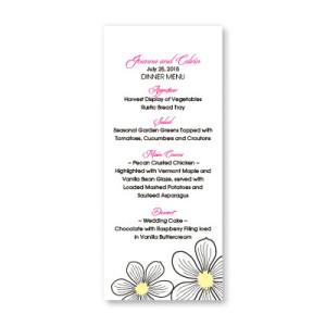 Stylish Blooms Menu Cards