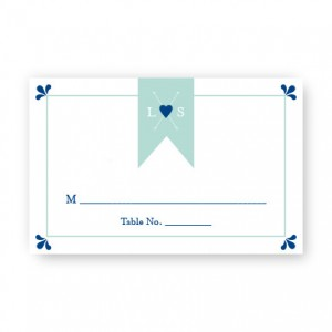 Hearts and Arrows Seating Cards