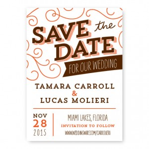 Fanfare Save The Date Cards