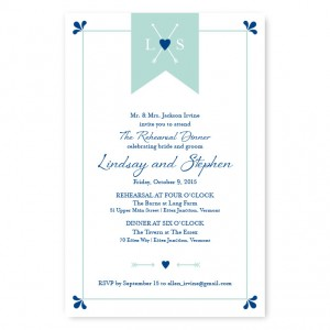 Hearts and Arrows Rehearsal Dinner Invitations