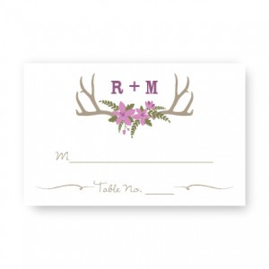 Rustic Antler Monogram Seating Cards
