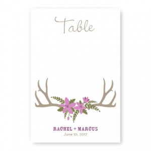 Rustic Antler Monogram Table Cards