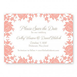 Antique Lace Save the Date Cards