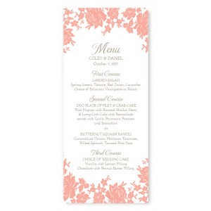 Antique Lace Menu Cards