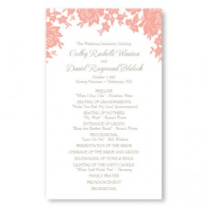 Antique Lace Wedding Program