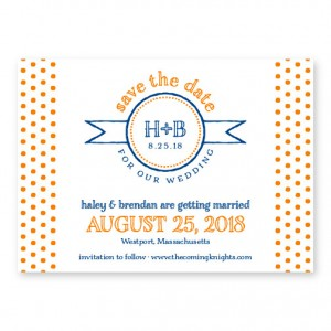 Petite Dots Letterpress Save the Date