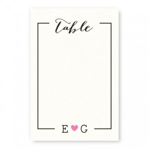 Simple Heart Table Cards
