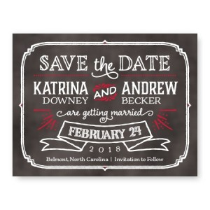 Blackboard Save The Date Cards