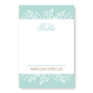 Winter Flora Table Cards
