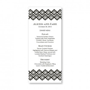 Creative Edges Menu Cards
