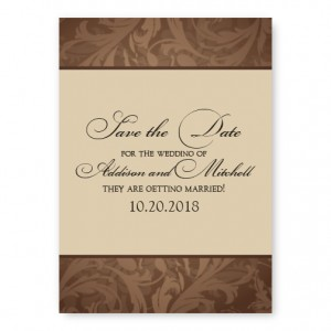 Ornate Border Save The Date Cards
