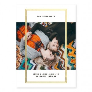 Framed Perfection Foil Save The Date Cards