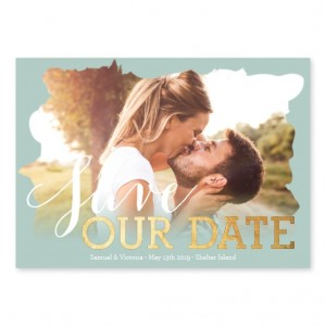 Stamped with Love Photo Save The Date Cards