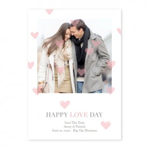 Oh My Heart Photo Save The Date Cards - Pink