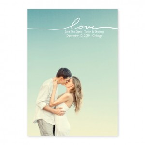 Only Love Photo Save The Date Cards