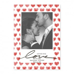 Flutterpation Photo Save The Date Cards Red