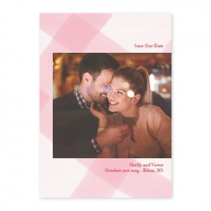 Buffalo Love Photo Save The Date Cards Pink