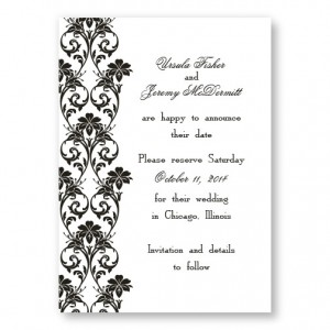 Lavish Border Save The Date Cards