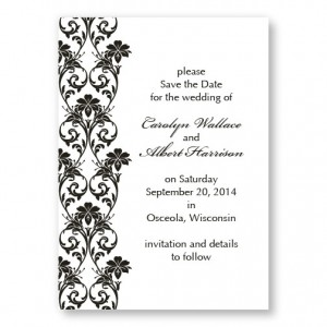 Lavish Border Horizontal Save the Dates