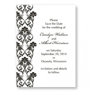 Romantic Vines Letterpress Save the Date