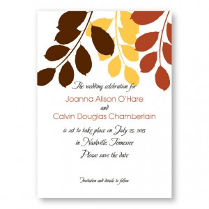 Passionate Leaves Save The Date Cards