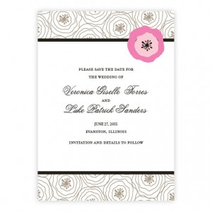 Floral Focus Save The Date Cards