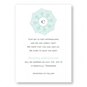 Initial Perfection Save The Date Cards