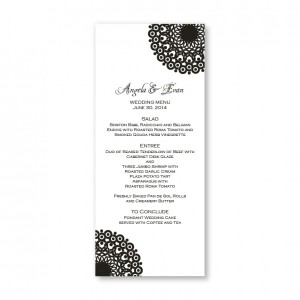 Modern Lace Menu Cards