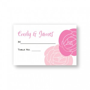 Fresh Blooms Seating Cards