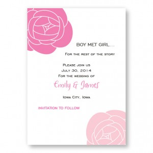 Fresh Blooms Save The Date Cards