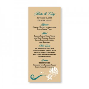Seashell Love Menu Cards