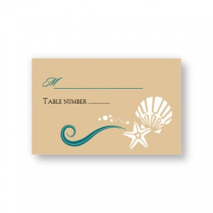 Seashell Love Seating Cards