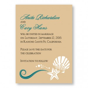 Seashell Love Save The Date Cards