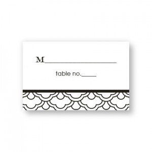 Ornamental Expression Seating Cards