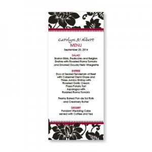 Passionate Blooms Menu Cards