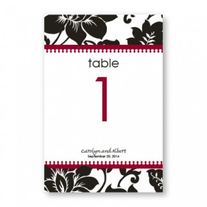 Passionate Blooms Table Cards