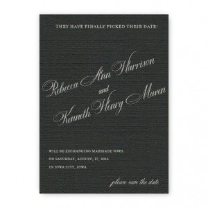 Sadie Thermography Save the Date Cards
