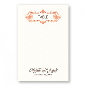 Shannon Table Cards