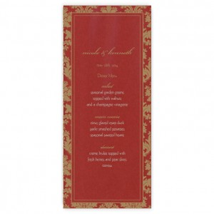 Clarissa Menu Cards