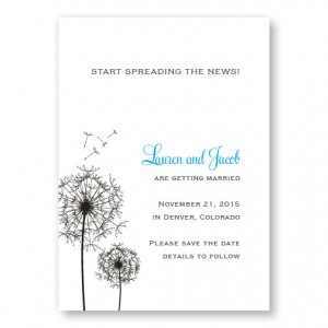 Pick a Posy Save The Date Cards