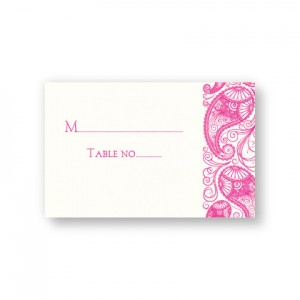 Paisley Garden Thermography Seating Cards