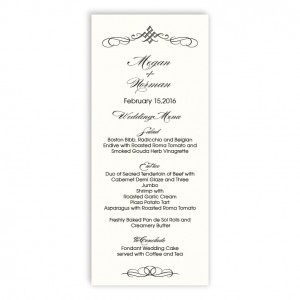 Bailey Thermography Menu Cards