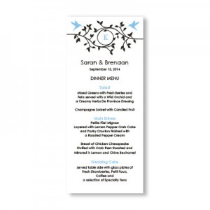 Bright Beginnings Menu Cards