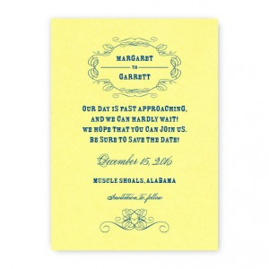 Fallon Thermography Save the Date Cards