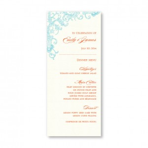 Circled With Love Thermography Menu Cards