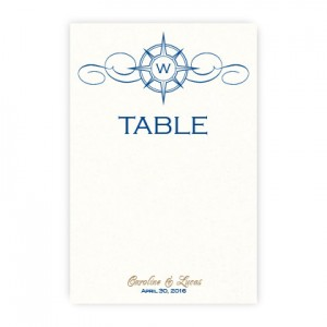 Compass Table Cards