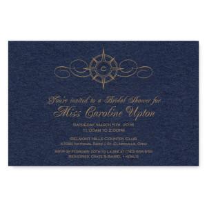 Compass Bridal Shower Invitations