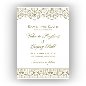 Moroccan Save the Date Cards