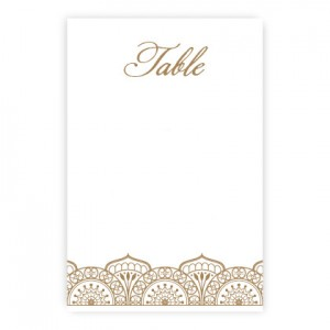 Moroccan Table Cards